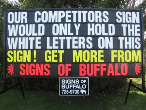 Signs of Buffalo Portable signs