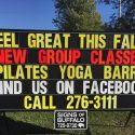 Clarence Sign Rental for Yoga Studio